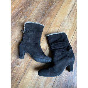 BLONDO Canada Heeled Black Winter Boots 8.5